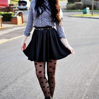 Polka Dots Tights Lookbook by Killy from Moon Magik - TrendyLegs