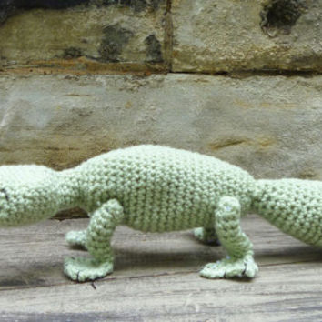 Lizard Stuffed Animal/Toy - Crochet Amigurumi Patchwork Square