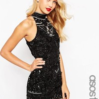 ASOS Tall | ASOS TALL Premium Crystal Embellished Playsuit at ASOS