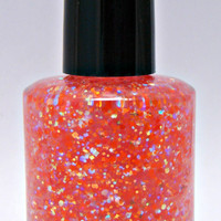 Orange You Lovely Custom Iridescent Glitter Nail Polish