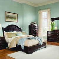 Grandover Traditional Bedroom Set in Merlot | Bedroom sets HE-858LP-Bed-Set/0