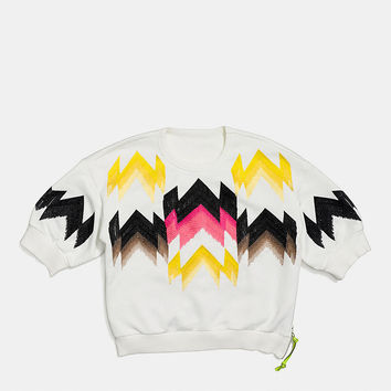 Hawk Feather Side Zip Sweatshirt