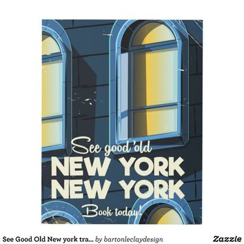 See Good Old New york travel poster Panel Wall Art