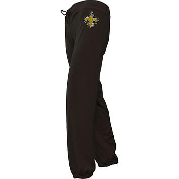 New Orleans Saints - Jewel Logo Girls Youth Sweatpants