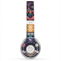 The Vector Purple and Colored Aztec pattern V4 Skin for the Beats by Dre Solo 2 Headphones