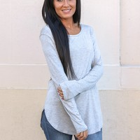 The Perfect Long Sleeve Top - Heather Grey
