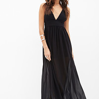 FOREVER 21 Strappy Crisscross Maxi Dress
