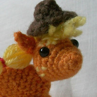 Applejack Plush My Little Pony Amigurumi With Hat