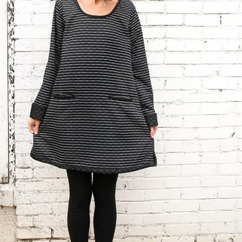 Harper Sweater - Striped Dot by Tulip Clothing