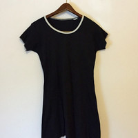 Vintage 90s Dress, Babydoll Dress, Grunge Dress, 90s Grunge, T-Shirt Dress, Minimalist Dress, Black Dress, Courtney Love