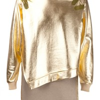 KYE - Metallic High-Low Pullover - SS14MN_TP009 GOLD - H. Lorenzo