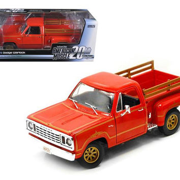 1978 Dodge Warlock Pickup Truck Sunfire Orange Limited Edition 1 of 1000 Produced Worldwide1-18 Diecast Model Car by Autoworld