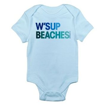 W'sup Beaches Baby Bodysuit