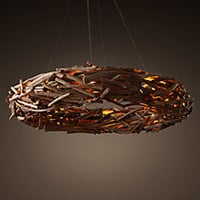 """Salvaged Driftwood Ring Chandelier 63"""""""