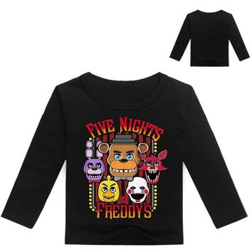 New Boys Clothing Kids Long sleeves T-shirt  at Freddy Game  T-shirt For Boys Girls Tees Cotton Tops Kids clothes