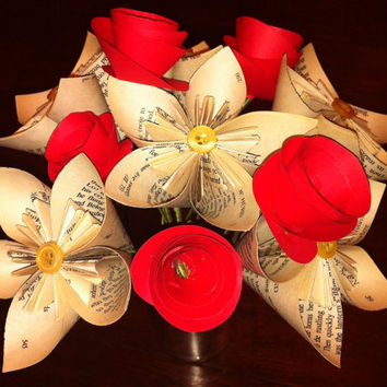 Love is in the Air Bouquet Origami Paper Flower by QtsyThings