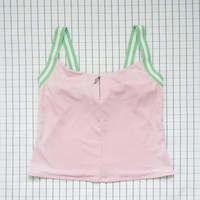 90's Sporty Top, Tennis Top, Workout Top, Baby Pink Top, Beach Zip Up Top, Cyber Angel, Soft Grunge, Pastel Grunge, Tumblr, M/L