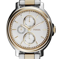 Fossil 'Chelsey' Crystal Bezel Multifunction Watch, 39mm (Nordstrom Exclusive)