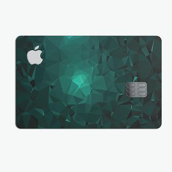 Abstract Teal Geometric Shapes - Premium Protective Decal Skin-Kit for the Apple Credit Card
