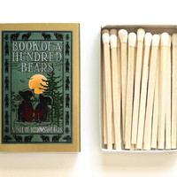 Book of a Hundred Bears: A Tale of Yellowstone Park Matchbox - Fun Grilling Accessories - Outdoor Survival - Light an Adventurous Spark