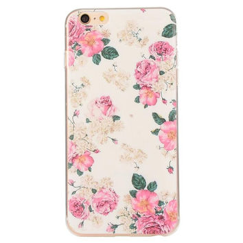 Creative Floral Case Ultrathin Cover for iPhone 5se 5s 6s Plus Gift 42