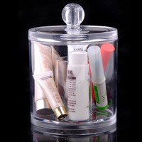 High Quality Acrylic Box Cabinet Cases Cotton Pad Cosmetic Organizer Makeup Perfume Storage Case Jewelry Box