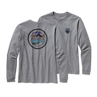 Patagonia Men's Long-Sleeved Rivet Logo Cotton T-Shirt | Gravel Heather