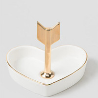 Arrow Heart Ring Dish