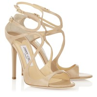 Nude Patent Leather Sandals | Strappy Sandals | Lance | JIMMY CHOO Shoes