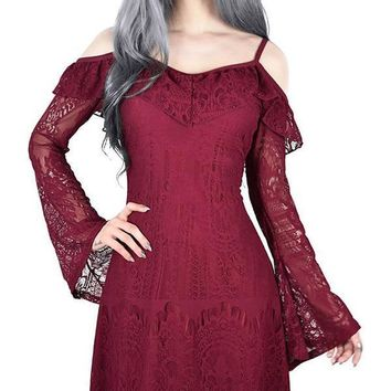 Deadly Beloved Burial [Wine] | DRESS