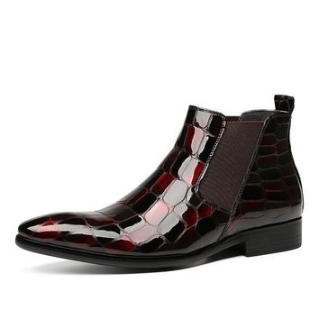 Shirazz Leather Chelsea Boots