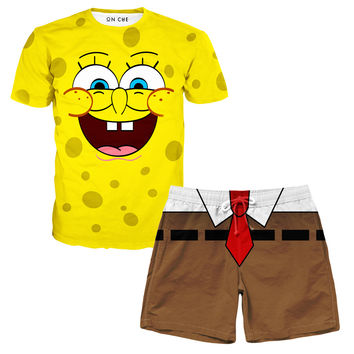 Spongebob T-Shirt And Shorts Rave Outfit