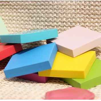 10pcs Rubber Carving Blocks DIY Your Own Rubber Stamps 5x5x1cm Free Shipping
