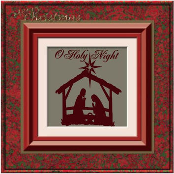 O Holy Night Nativity Vinyl Wall Art
