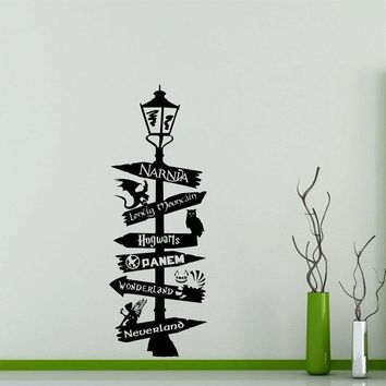 Star Wars Force Episode 1 2 3 4 5 Road Sign Wall Decal Poster Harry Potter  Narnia Alice Wonderland Quote Sign Geek Gift Vinyl Sticker Art Decor HP03 AT_72_6