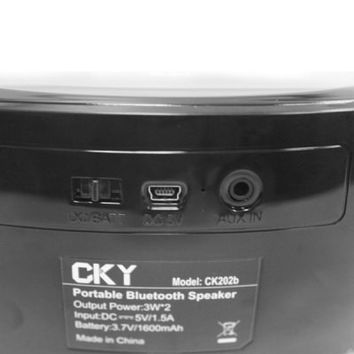 CKY BC09 Multi-function MIC Touch Panel Wireless Bluetooth 3.0 Speaker with Hands-free Calls for Desktop Laptop