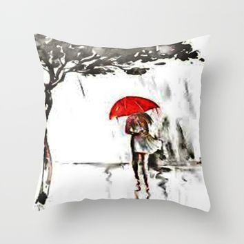 a rainy day Throw Pillow by exquisite