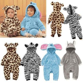 VOND4H New Baby Kid Toddler Boys Girls Animal Onesuit Romper Jumpsuit Fancy Costume High Quality