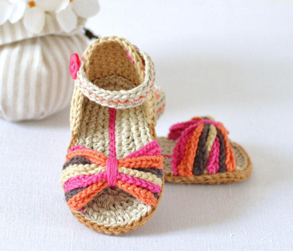 CROCHET PATTERN Baby Sandals Paris Style from ...