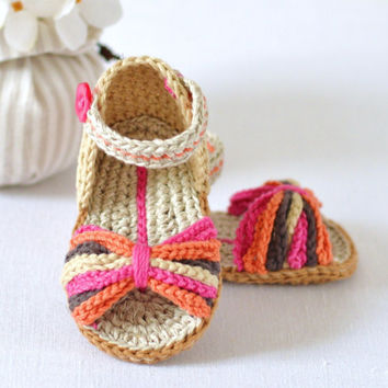 Crochet Pattern Baby Sandals Paris Style From Matildasmeadow On