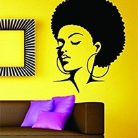Dabbledown Beautiful Woman with Afro Version 102 Car Window Laptop Windshield Banner Lettering Decal Sticker Decals Stickers Girl JDM Drift