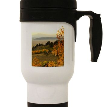 Nature Photography - Gentle Sunrise Stainless Steel 14oz Travel Mug by TooLoud