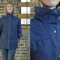 Vintage REI Navy Blue Mountain Parka Field Jacket