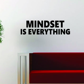 Mindset is Everything Quote Inspirational Decal Sticker Wall Vinyl Art Wall Room Decor Decoration
