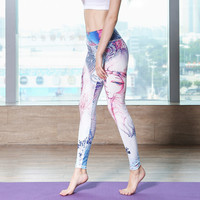 Sexy  Gym Clothes Spandex Running Tights Women