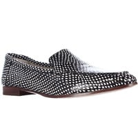 kate spade new york Carima Pointed Toe Loafer Flats - Black/White Snake