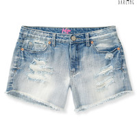 Womens Tokyo Darling High-Waisted Light Wash Midi Shorts