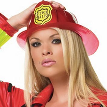 Fireman Hat Costume (One Size,Red)