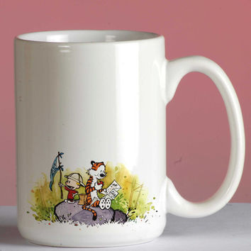 Calvin and Hobbes mug coffee, mug tea, size 8,2 x 9,5 cm