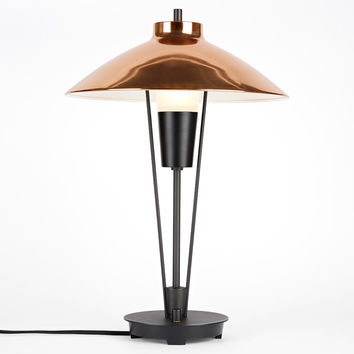 Ensley Table Lamp - Aged Brass & Oil-Rubbed Bronze Shade